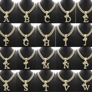 """Other - INITIAL LETTER PENDANT 11mm/20"""" CUBAN CHAIN RC3399"""